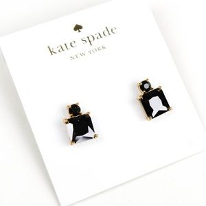 kate spade black square crystal earrings